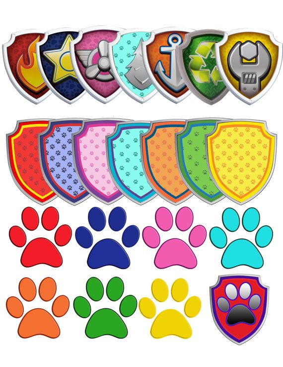 70 Paw Patrol Clipart 7 logos and 7 by OctopusDigitalStore