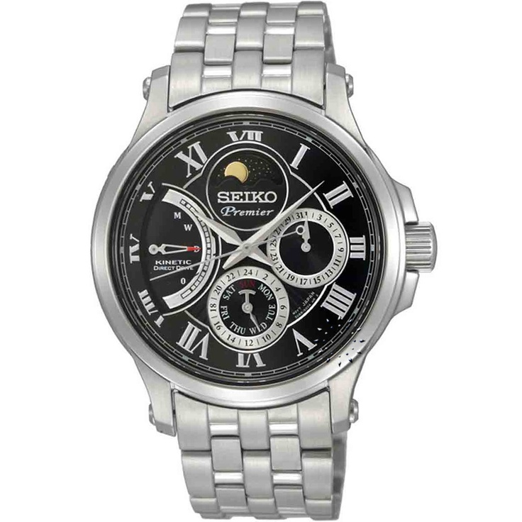 SEIKO Premier Kinetic Direct Drive Moon Phase Stainless Steel, 970€ http://www.oroloi.gr/product_info.php?products_id=30377