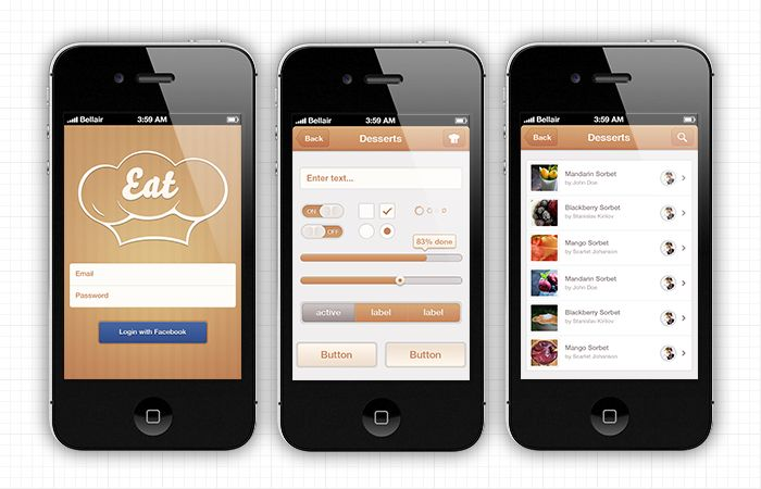 Food iPhone App Template CrossPlatform Development