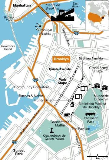 Del puente de Brooklyn a los restaurantes y librerías de Park Slope, los escenarios literarios, cinematográficos y cotidianos del escritor estadounidense en Nueva York