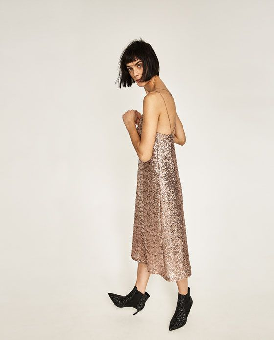 Image 5 of LONG SEQUINNED DRESS from Zara