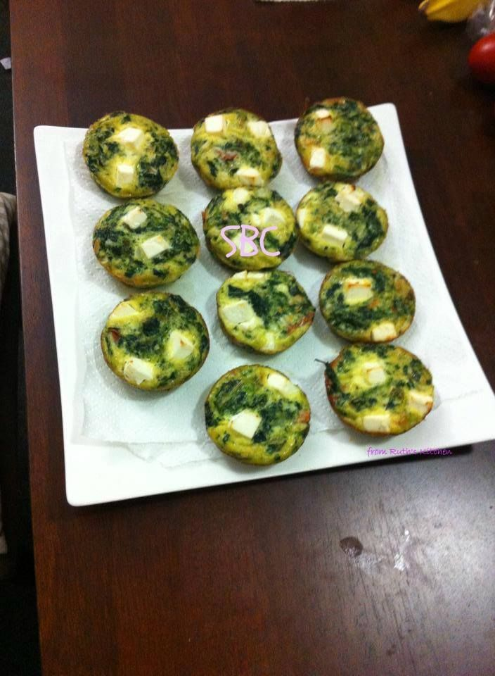 Spinach & Feta Frittatas #share | Yummy Recipes | Pinterest