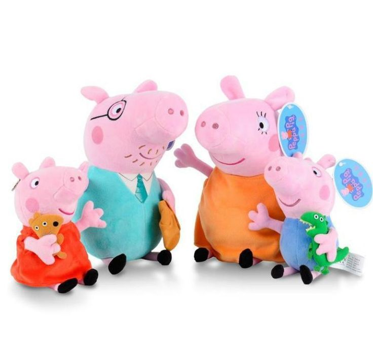Home Accessories Cartoon Baby Plush Toys Peppa Pig Family Stuffed Plush Doll Peppa Pig George Pig Mama Papa Pig Cartoon Baby Xmas Gifts