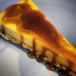 Vegan Anzac Cheesecake #saltedcaramel #vegan