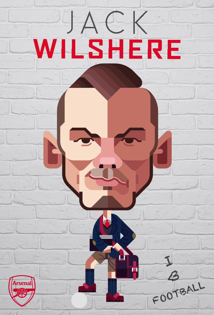 Jack Wilshere was featured in our Arsenal v Chelsea Matchday Programme. Illustration by © Daniel Nyari / iamdany.com