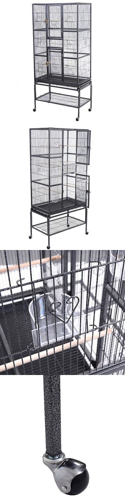Cages 46289: New Bird Parrot Cage Chinchilla Cockatiel Conure Large W Stand And Two Doors -> BUY IT NOW ONLY: $99.99 on eBay!