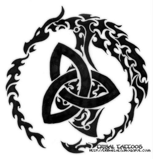Tribal Tattoo Designs | Pictures of Celtic & Tribal Tattoo Designs Have the middle pieces be blue, purple, and pink