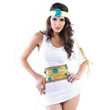 Griekse Godin Wit Polyester Vrouwen Carnaval Party Kostuum – EUR € 35.47