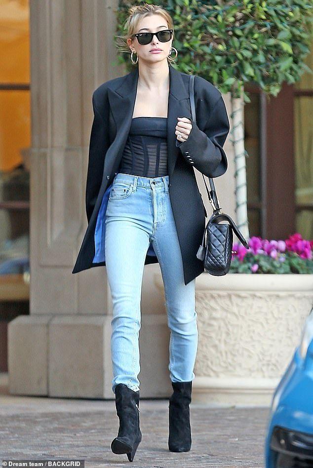 Hailey Baldwin looks effortlessly chic leaving husband Justin's hotel