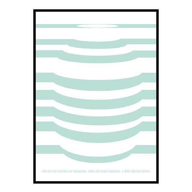 Poster White/Mint