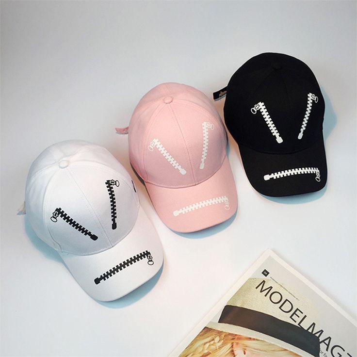New Men Zipper Printing Caps Justin Bieber 2017 High Sreet Caps Skateboard Hats  Snapbacks Harajuku Personality Baseball Cap Hat