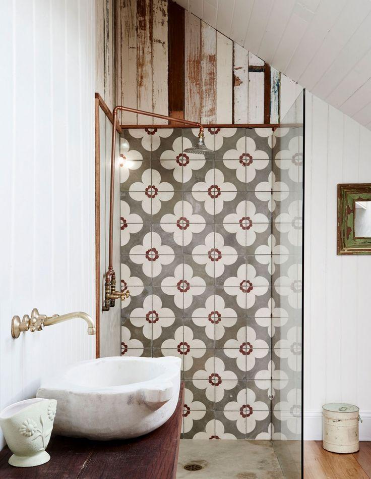 Image Result For D Luxe Interiors Danna Grand Yehuda Farmhouse Shower Bohemian Bathroom Bathroom Decor