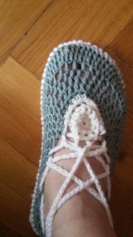 Horgolt cipőke