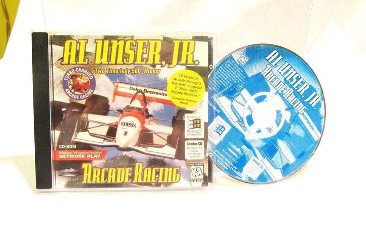 Al Unser Jr Arcade Racing CD-Rom Windows 95 and Windows 3.1 PC #Mindscape
