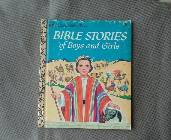a little golden book BiBle Stories of boys and by JanetJcrafts