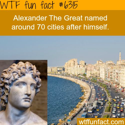...WOW! Jus WOW!   ~Alexander The Great - WTF fun facts