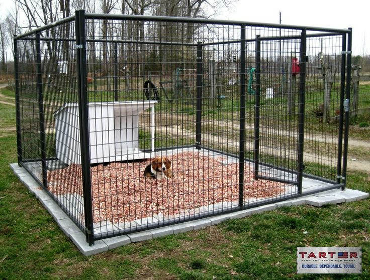 Henry Hiner is pleased with his new Tarter 10 x 10 kennel he recently purchased. It also appears his dog is enjoying his new home, complete with cedar chips and doghouse. Thanks Henry for sharing! #TarterUSA