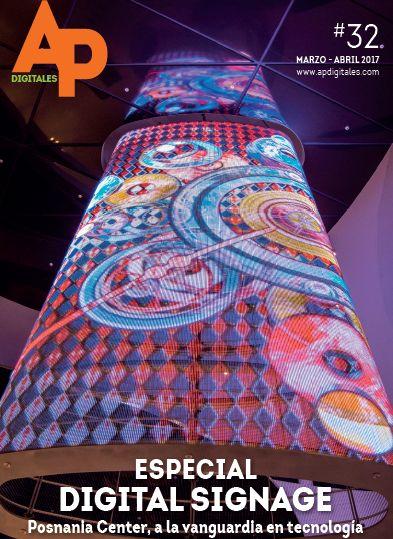 APdigitales #32 con esta fantástica aplicación de digital signage en portada. Puedes ver la revista en www.apdigitales.com
