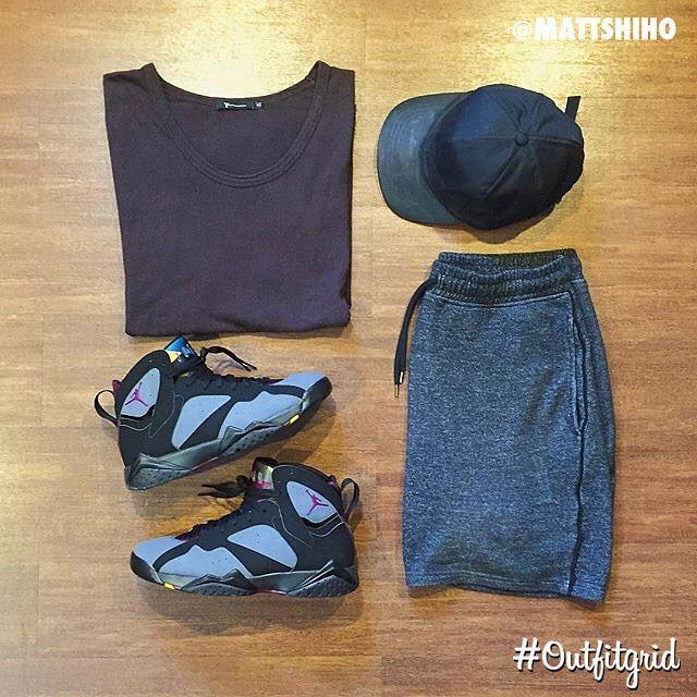 July 19th's top #outfitgrid is by @mattshiho. ▫️#AlexanderWang #Tee ▫️#Topman #Shorts ▫️#ByH #Cap ▫️#JordanVII