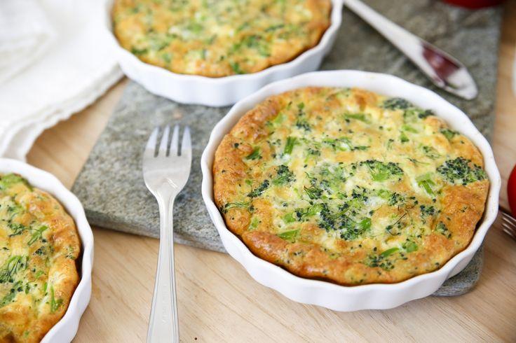 Enkel och god broccolipaj utan skal, hur gott som helst!