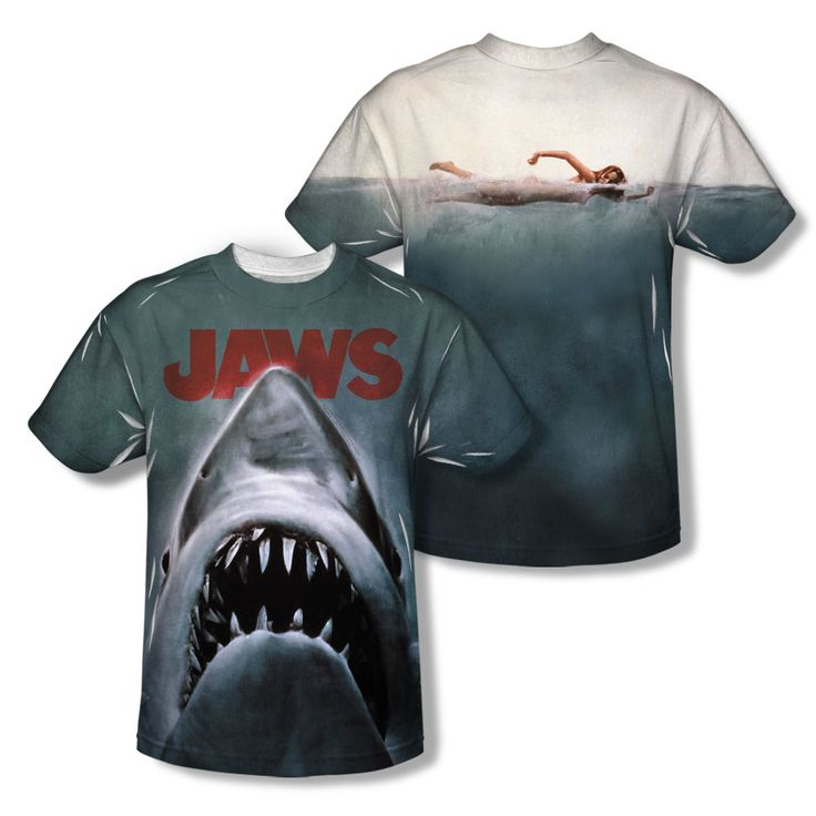 Jaws Shirt Poster Sublimation Youth Shirt - $26.99 | #BeamerGraphicShirts #Jaws