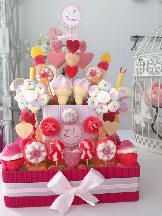 Simple decorazioni insolite con le caramelle idee tutorial lasciatevi ispirare with addobbi per - Decorazioni per battesimo bimba ...