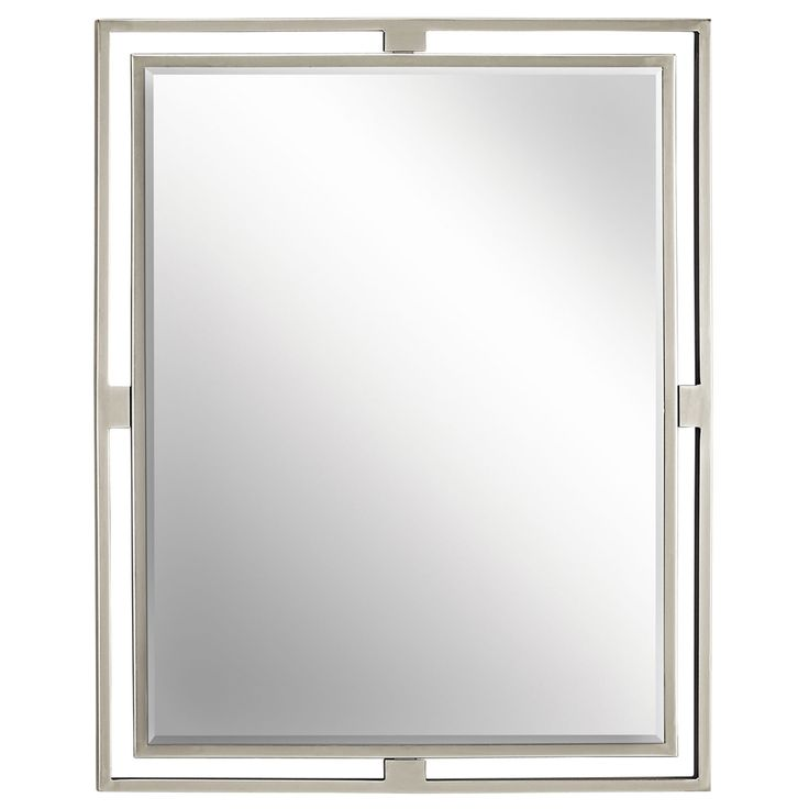 Hendrik Brushed Nickel Mirror Kichler Rectangle Mirrors Home Decor