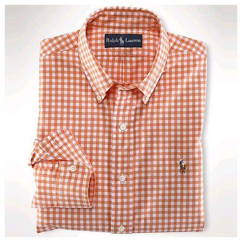 Orange Plaid ralph lauren dress shirts
