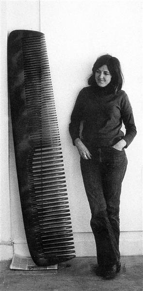 6.4 Vija Celmins, Untitled, 1970. Directly related to Magritte's work. Making herself diminuitive in relation to this comb that she created.
