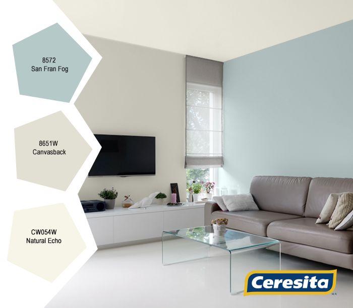 #CeresitaCL #PinturasCeresita #color #living #pintura #decoración #tendencia #espacios *Códigos de color sólo para uso referencial. Los colores podrían lucir diferentes, según calibrado de su monitor