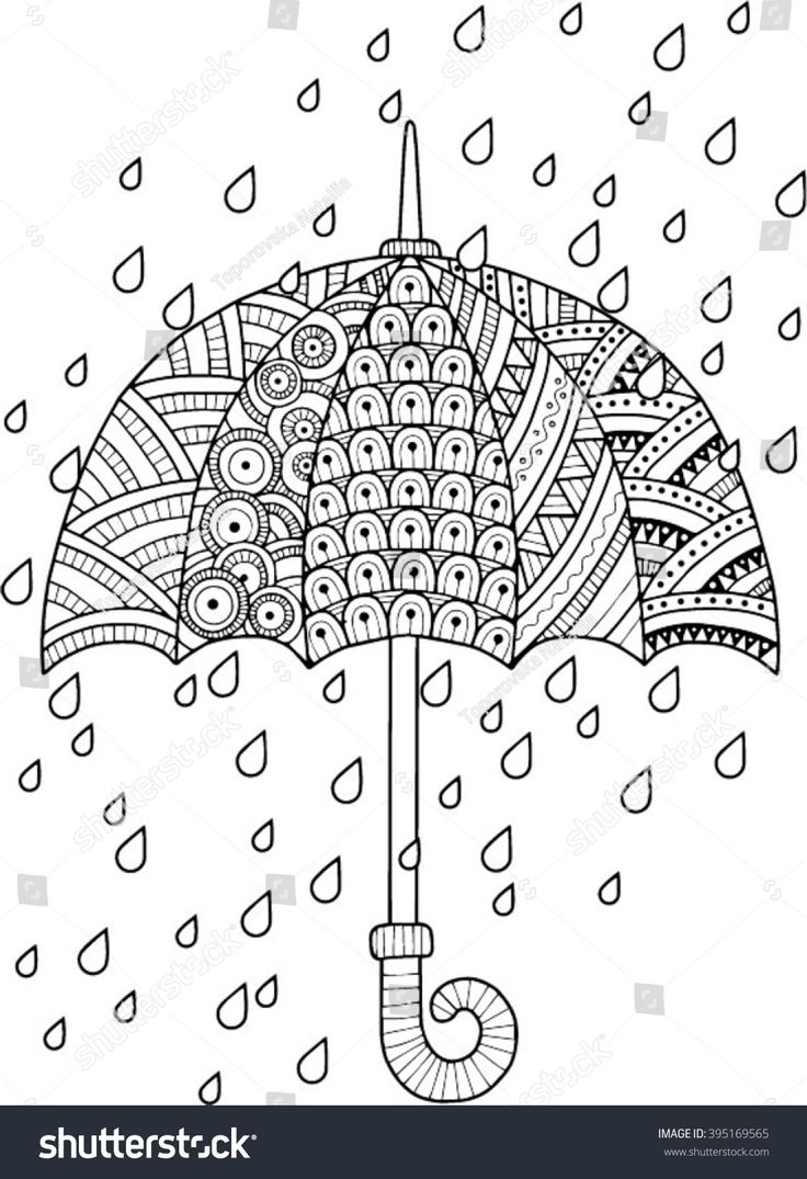 Hand draw vector doodle coloring page for adult I love