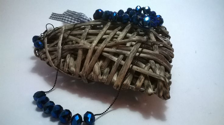Midnight Blue jewellery set. earrings, necklace and bracelet. Upcycled beaded jewellery. by NJscollection on Etsy