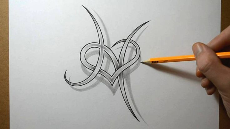 letter+h+tattoo+designs | Letter H with a Heart Combined Tattoo Design by JSHarts