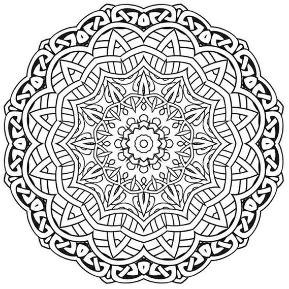 2011 best images about Mandalas  coloring pages on Pinterest