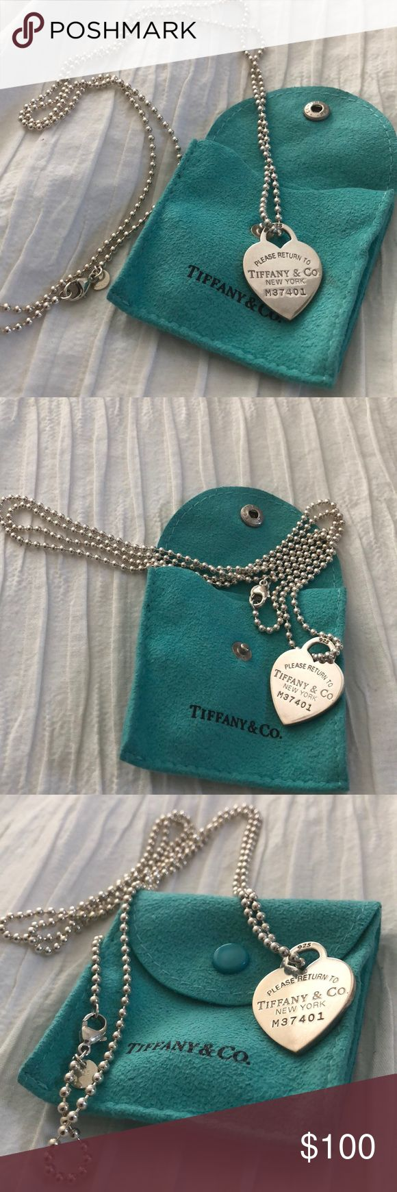 Tiffany & Co. Return to Tiffany Heart Necklace 34 Pristine condition, worn 1x Jewelry Necklaces
