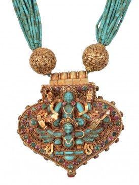 Lakshmi Garud Turquoise-Coral Necklace