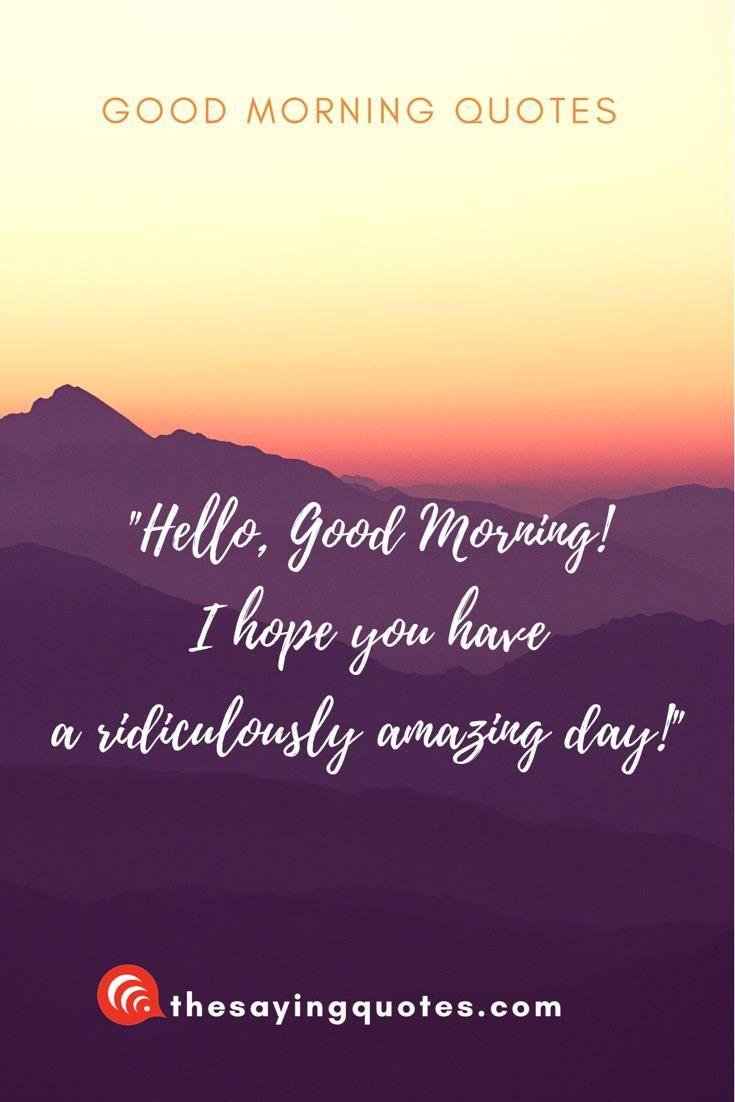 Hi Good Morning Quotes