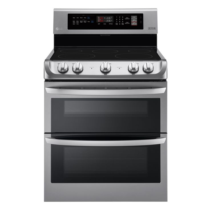 LG LDE4411ST 7.3 cu. ft. Electric Double Oven Range with ProBake Convection® and EasyClean® in