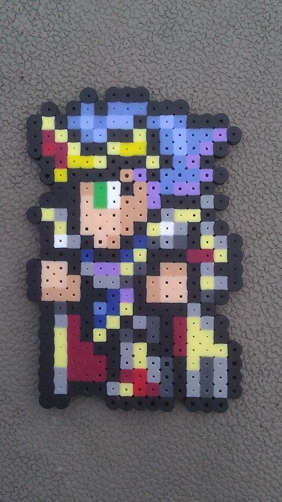 Fantasy Iv  Final Fantasy  Fantasy Beads  Paladin Cecil  Perler BeadsFinal Fantasy Iv Cecil Sprite