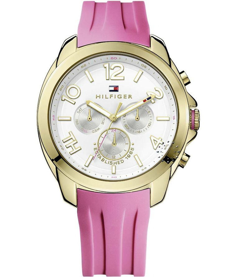 TOMMY HILFIGER Serena Calendar Pink Rubber Strap Η τιμή μας: 147€ http://www.oroloi.gr/product_info.php?products_id=38217