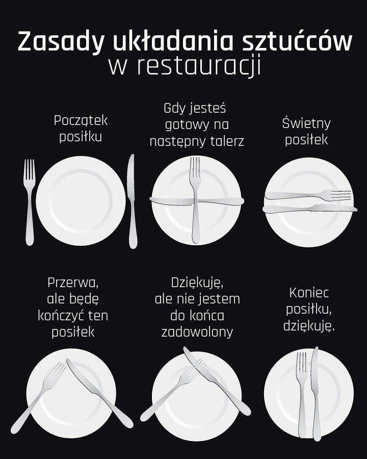 Jak nie ośmieszyć się w restauracji? Zasady układania sztućców!