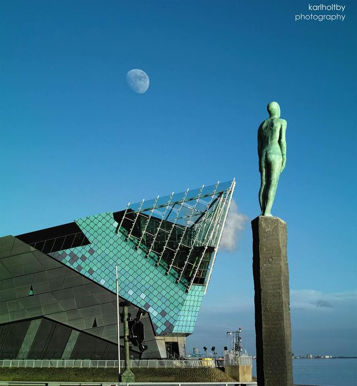 The Watcher statue and The Deep, Kingston upon Hull, East Yorkshire, England