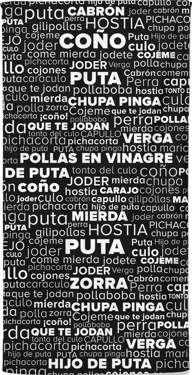 Rude Swear Words in Spanish Beach Towel