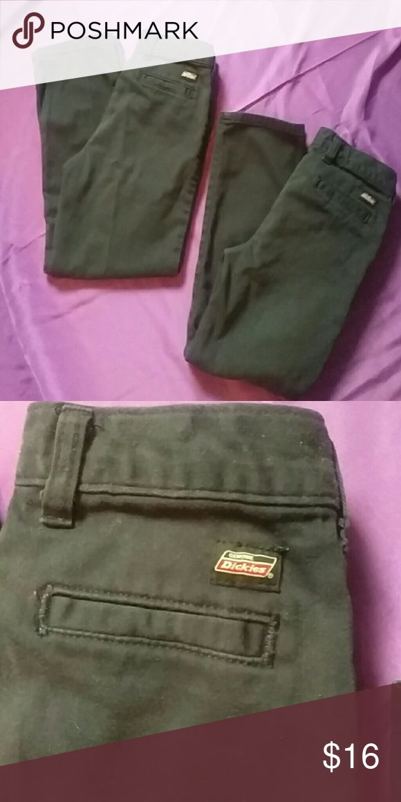 Lot of 2 school pants 3 Pairs of Dickie's school pants. No rips or holes, just don't fit any longer. Very good material for school. Price is for both, can separate Dickies Bottoms Casual