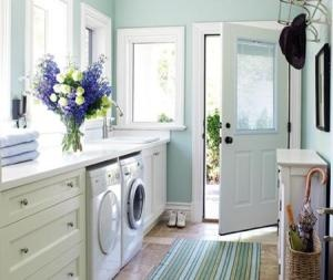 Laundry. Love the wall colour.