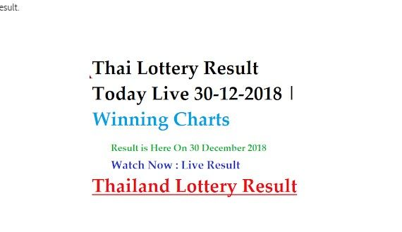 Thai #Lottery #Result 1 and 16 every month   #Thailand