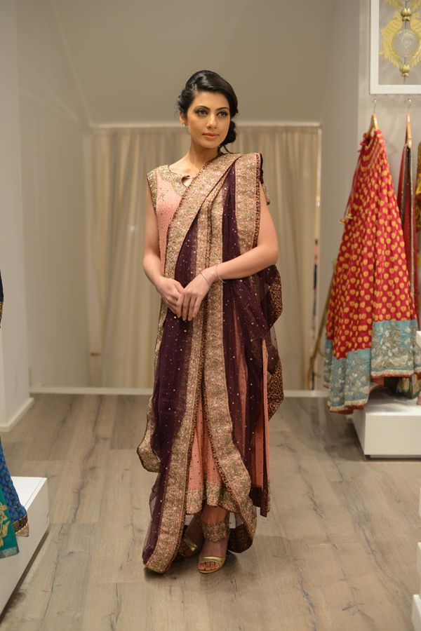 The Hyderabadi Collection.  Draping of the duppatta is AMAZING!!