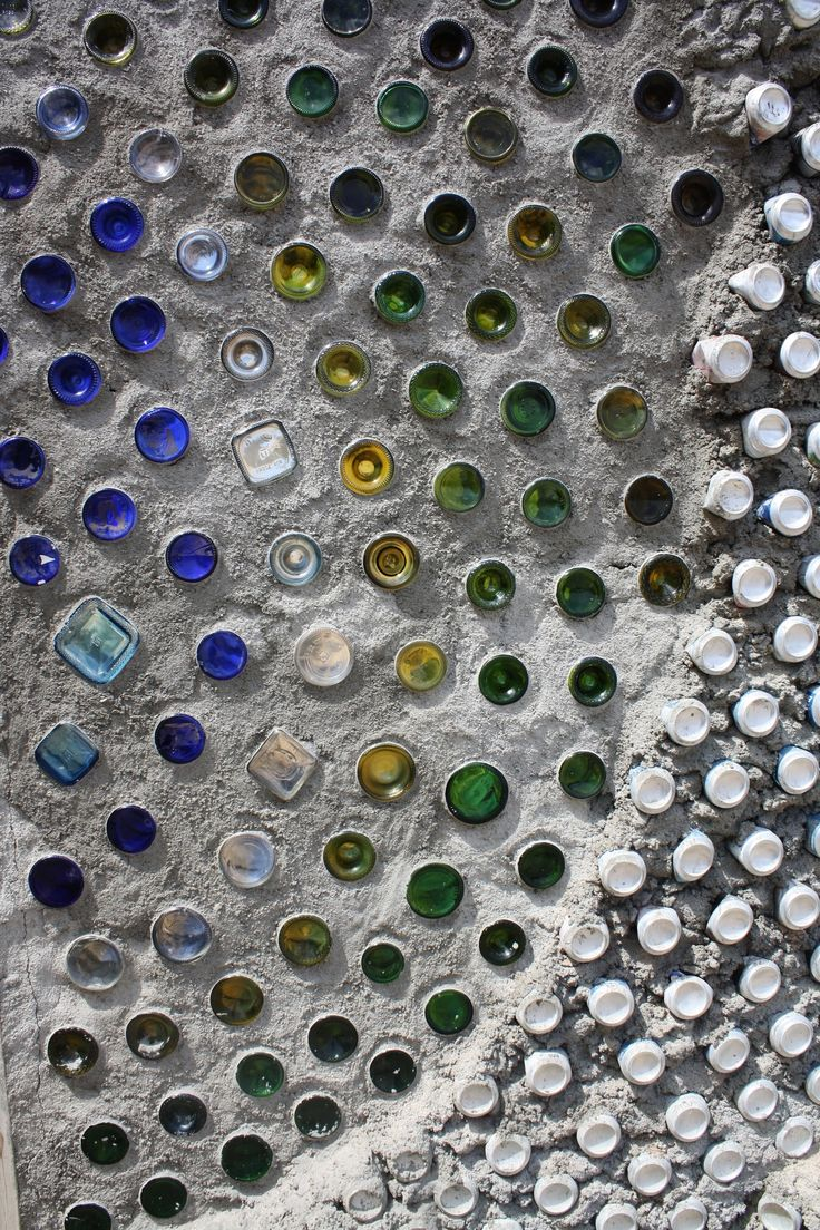 215 best images about glass bottle walls earthship on for Recycled wall