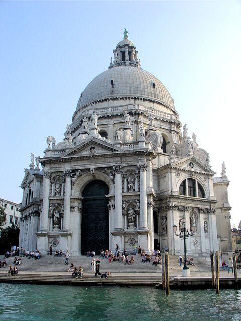 The Church of Santa Maria della Salute in Venice, Italy