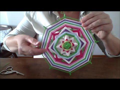 tutorial mandala tejido 6 puntas (facil) - YouTube
